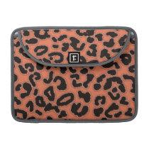 Burnt Sienna Leopard Animal Print Sleeve For MacBook Pro