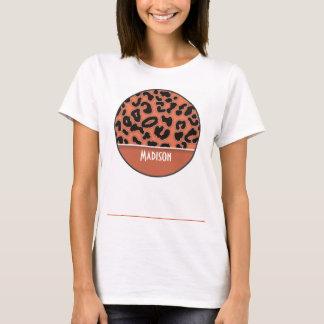 Burnt Sienna Leopard Animal Print T-Shirt