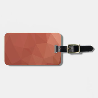 Burnt Sienna Orange Abstract Low Polygon Backgroun Luggage Tag