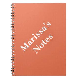 Burnt Sienna Personalizable Primary School Notebook
