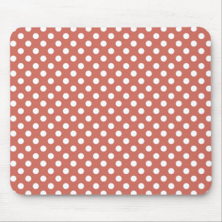 Burnt Sienna Polka Dot Mousepad