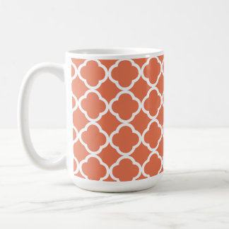 Burnt Sienna Quatrefoil Coffee Mug