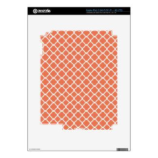 Burnt Sienna Quatrefoil Decals For iPad 3