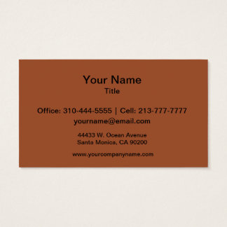 Burnt Sienna Solid Color Business Card