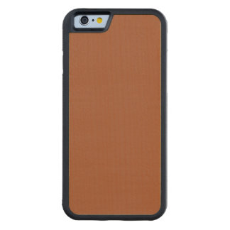 Burnt Sienna Solid Color Carved Maple iPhone 6 Bumper Case