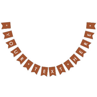 Burnt Sienna Solid Color Customize It Bunting Flags