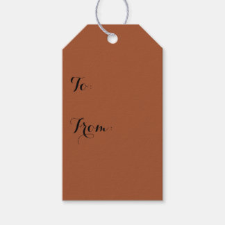Burnt Sienna Solid Color Gift Tags