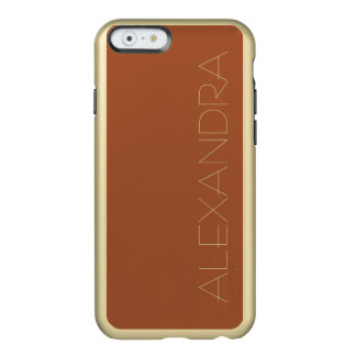 Burnt Sienna Solid Color Incipio Feather Shine iPhone 6 Case