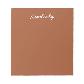 Burnt Sienna Solid Color Notepad