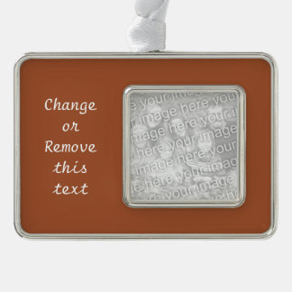 Burnt Sienna Solid Color Ornament