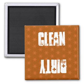 Burnt Sienna Stars Clean Dirty Dishwasher W1411 Magnets