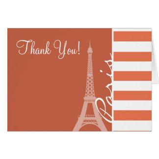 Burnt Sienna Stripes; Paris Card