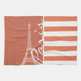 Burnt Sienna Stripes; Paris Towel