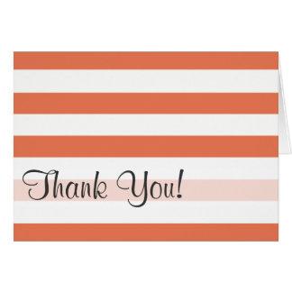 Burnt Sienna Stripes; Striped Card