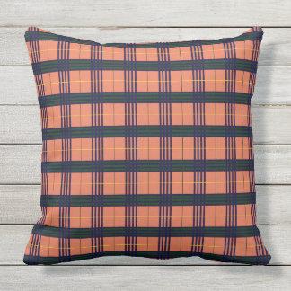 Burnt Sienna - Tartan Throw Pillow