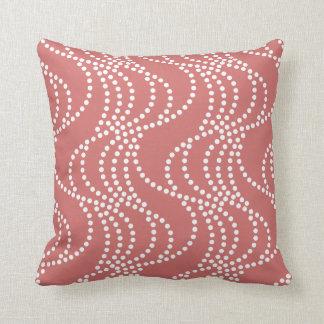 Burnt Sienna Wave Pattern Pillow