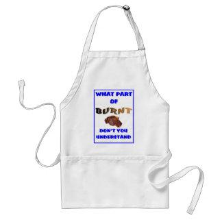 Burnt steak adult apron