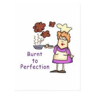 Burnt to Perfection Postcard