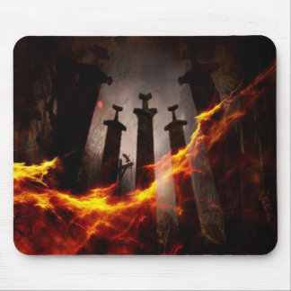 Burnt to the ground mouse pad