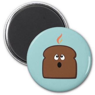 Burnt Toast 2 Inch Round Magnet