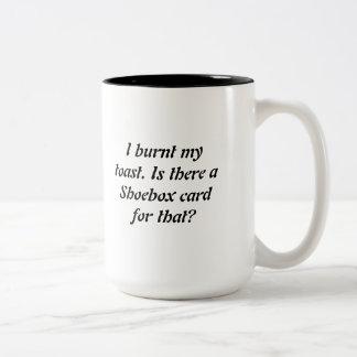 Burnt toast, not burnt coffee! Two-Tone coffee mug