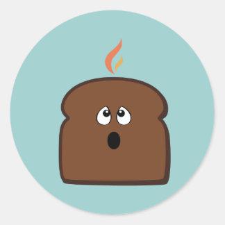 Burnt Toast Round Stickers