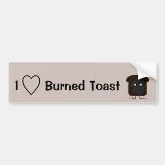 Burnt Toast smoke crumbs ashes bread Bumper Sticker