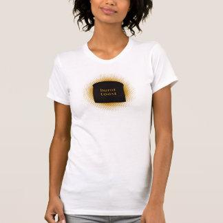 Burnt Toast Women's White Destroyed T-shirt
