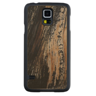 Burnt Tree Bark Texture Carved Maple Galaxy S5 Slim Case
