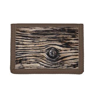 Burnt Tree Bark Texture Trifold Wallet