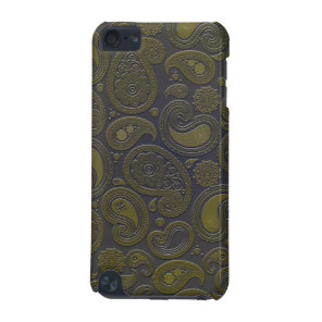 Burnt Umber Yellow Paisley motif iPod Touch (5th Generation) Case