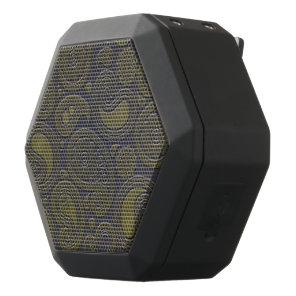 Burnt Umber Yellow Paisley on deep burgandy Black Bluetooth Speaker