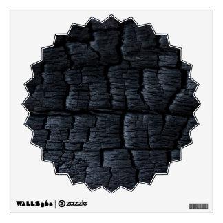Burnt Wood Faux Texture Wall Sticker