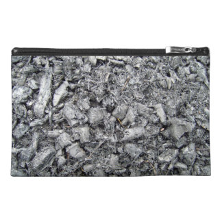 Burnt wood remain texture travel accessories bags