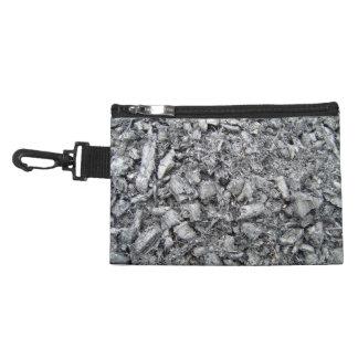 Burnt wood remain texture accessories bag