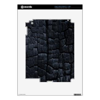 Burnt Wood Texture Skin For iPad 2