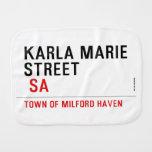 Karla marie STREET   Burp Cloth
