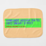 armando aguiar (Rato)  2013 smart street  Burp Cloth