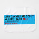 3rd Davyhulme Scout & Guide Band  Burp Cloth