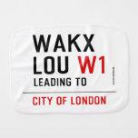 WAKX LOU  Burp Cloth