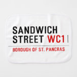 Sandwich Street  Burp Cloth