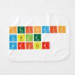 Periodic Table Writer  Burp Cloth