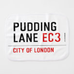 PUDDING LANE  Burp Cloth