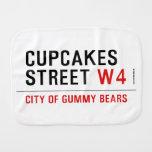 cupcakes Street  Burp Cloth