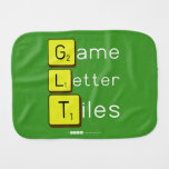 Game Letter Tiles  Burp Cloth