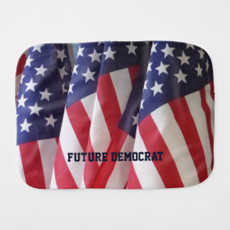 Burp Cloth, American Flags, Future Democrat Baby Burp Cloth