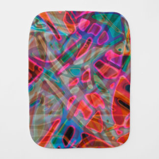 Burp Cloth Colorful Stained Glass