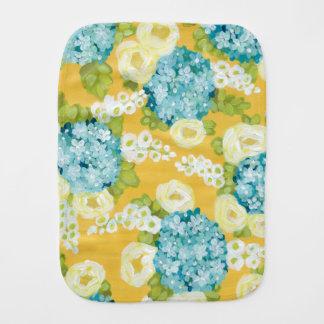 Burp Cloth - Hydrangeas & Hollyhocks