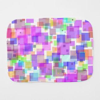 Burp Cloth - Squarely Bubble Gum