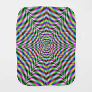Burp Cloth   Twelve Pointed Psychedelic Web